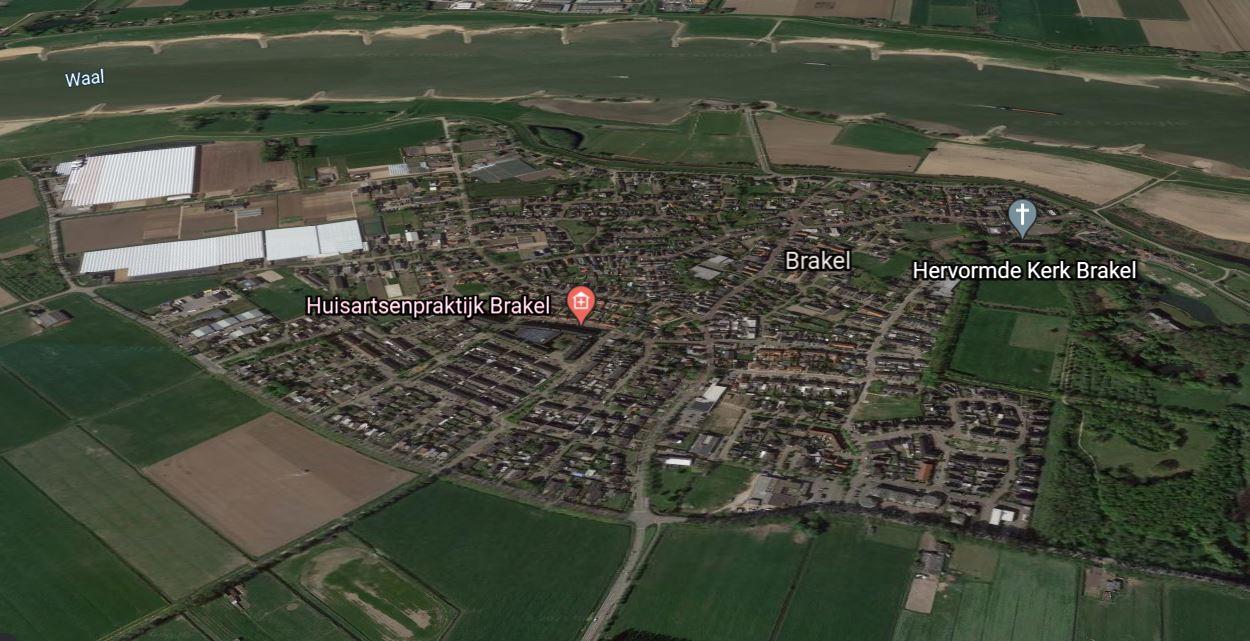 De gemeente Zaltbommel wil grond kopen voor uitbreiding van Brakel. Het oog is gevallen op de hoek ten westen van het dorp.