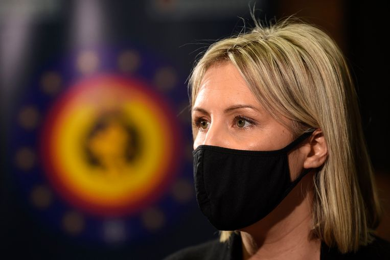 Minister van Defensie Ludivine Dedonder (PS). Beeld Photo News