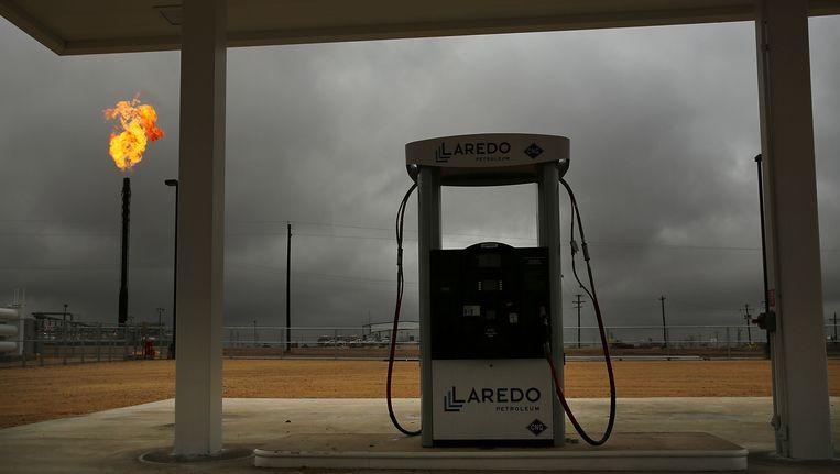 Olieboorplatform in Texas. Beeld Getty Images