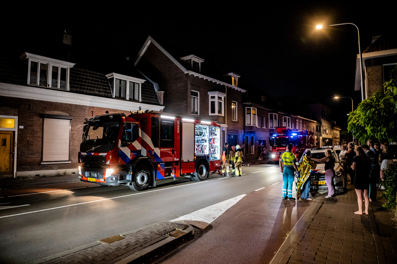 Brand in woning Bisschop Zwijsenstraat Tilburg.