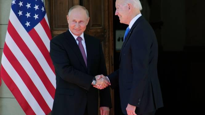 """Poetin over gesprek met Biden: """"Geen vriendschap, wel pragmatische dialoog"""". Biden beklemtoont """"nood aan basisregels"""""""