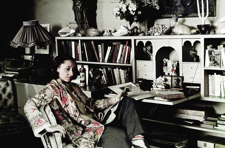 Gisèle d'Ailly-van Waterschoot van der Gracht bleef vanaf 1940 altijd aan de Herengracht 401 wonen Beeld Sanne Zurne