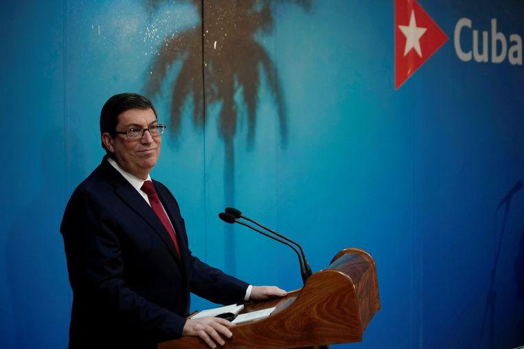 De Cubaanse minister van Buitenlandse Zaken Bruno Rodriguez. Beeld REUTERS