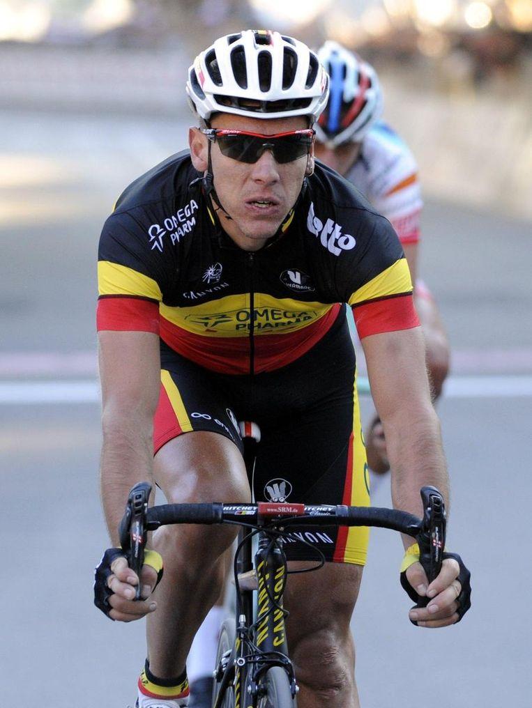 Meer dan een achtste stek zat er niet in voor de Belgische kampioen. Het vat is al een tijdje af. Beeld BELGA