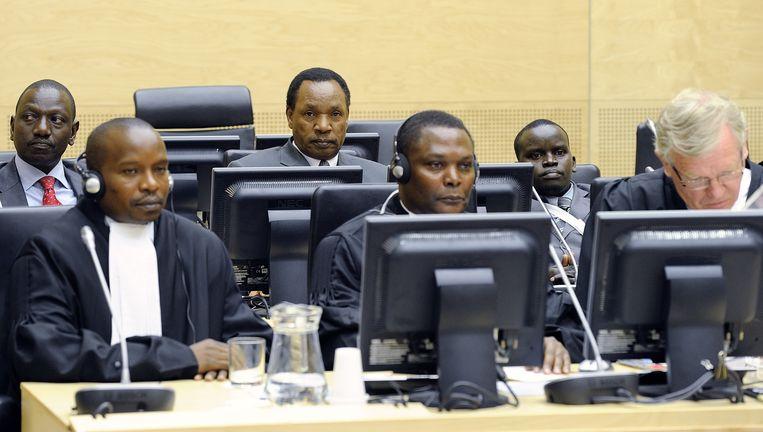 Een zaak tegen Keniaanse verdachten voor het Internationaal Strafhof. Beeld ANP