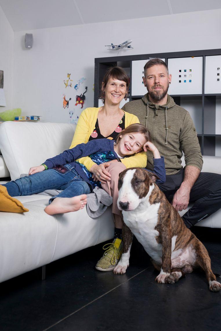 Karen Moyson (41) en Peter De Bondt (43) uit Malderen. Beeld Steven Richardson