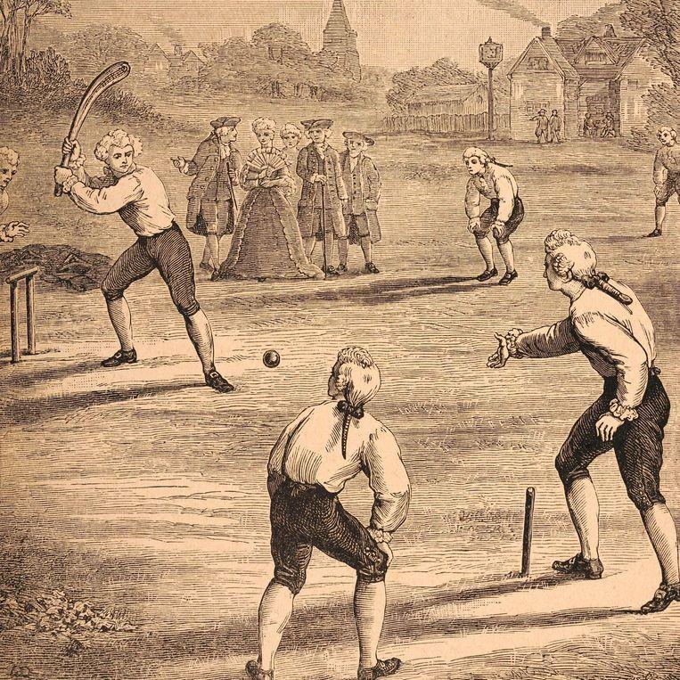 Dit is een oude sport, getuige ook deze illustratie uit de 18de eeuw.  Beeld Popperfoto/Getty Images