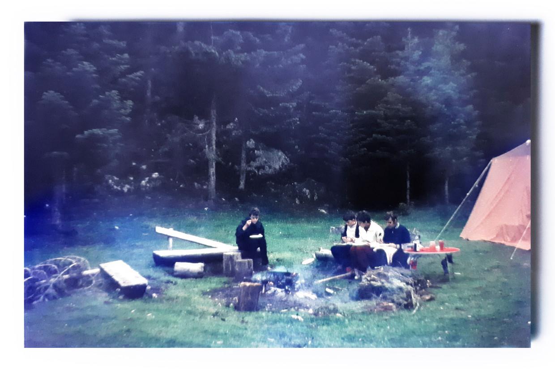 De familie Van Walsum kamperend in Zabljak, zomer 1971. Beeld