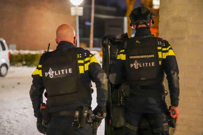 De politie rukte groots uit.