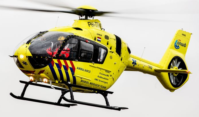 Traumahelikopter. Foto ter illustratie.