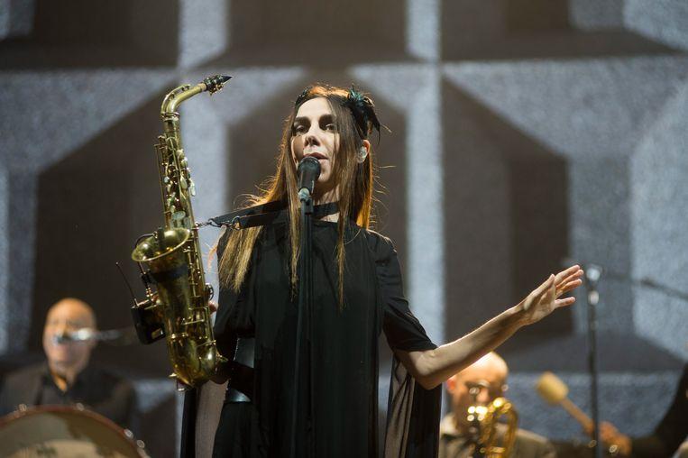 PJ Harvey 2 july 2016 Rock Werchter festival photo: Alex Vanhee Beeld Alex Vanhee