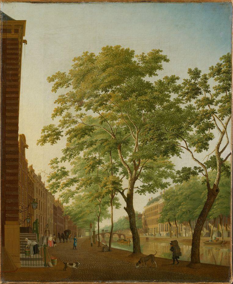 Hendrik Keun: De Keizersgracht bij het Molenpad, 1753-1787.  Beeld