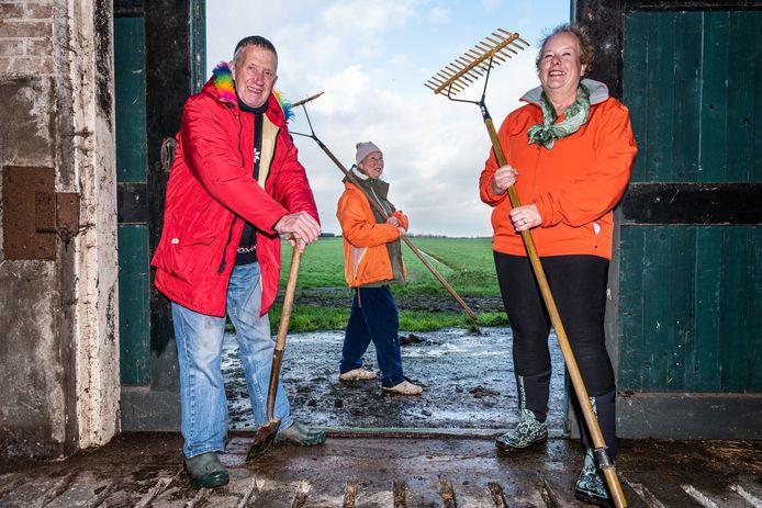 Kersverse Herenboeren Lian Tan, Leo van den Brand en Sandra Vreken (r).