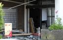 Het bpost-kantoor aan de Wijkstraat in Tongeren werd zwaar beschadigd door de plofkraak.