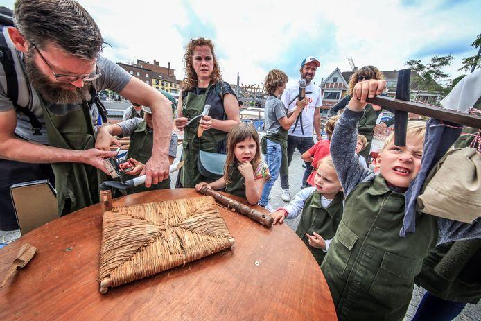 archiefbeeld van kinderanimatie op de laatste echte Sinksenfeesten voor corona, in 2019