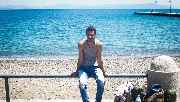 Een Syrische vluchteling op Kos. Beeld Nicola Zolin