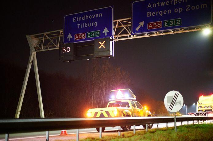 Een persoon aangehouden na achtervolging op A58.