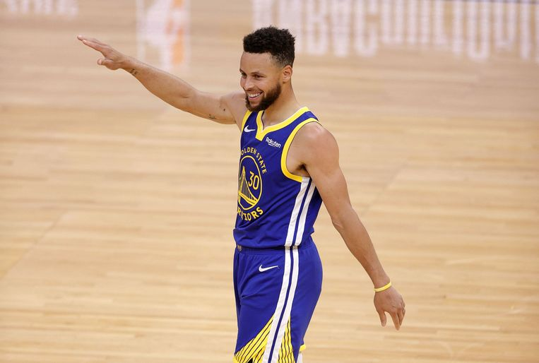 Stephen Curry van Golden State Warriors. Beeld AFP