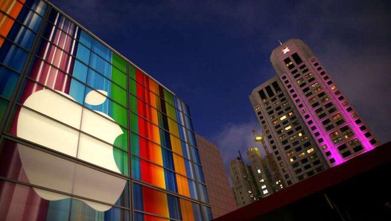 Het Apple-logo op een gebouw in San Francisco. Beeld afp