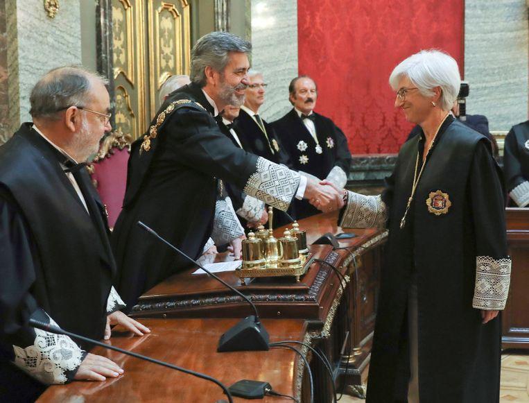 Carlos Lesmes (centraal op de foto)
