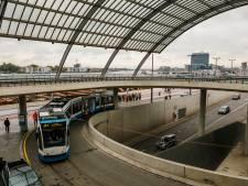 Tramrails Centraal Station verzakt door verbouwingen