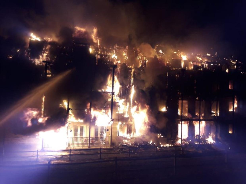 Het hele gebouw stond in lichterlaaie.