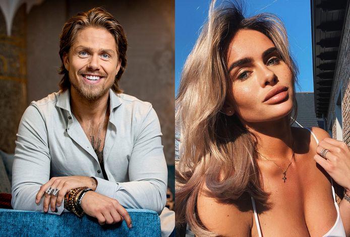 André Hazes en zijn nieuwe vriendin, model Sarah van Soelen