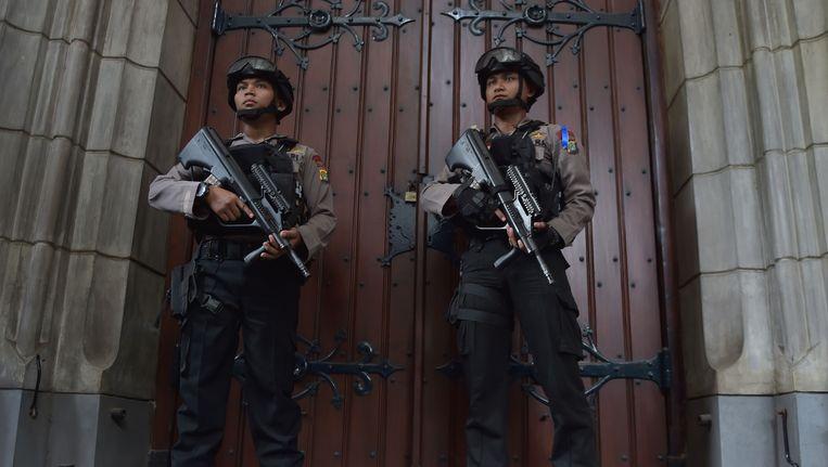 De Indonesische anti-terreurpolitie. Beeld AFP