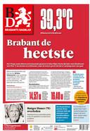 Deze voorpagina stond in het teken van de warmst gemeten temperatuur ooit in Brabant.