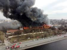 Gigantesque incendie à Saint-Pétersbourg
