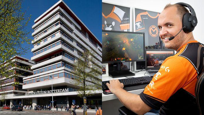 Ruben Been heeft grote plannen om esports op het Grafisch Lyceum te integreren.