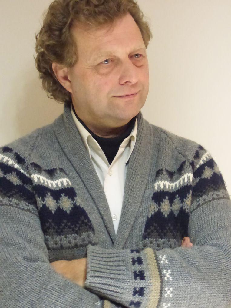 Ignace Vandewalle, auteur van het boek 'De Illegale Ghelamco Arena'. Beeld RV