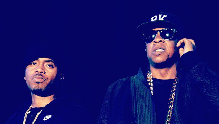 De rappers Nas en Jay-Z. Beeld GETTY