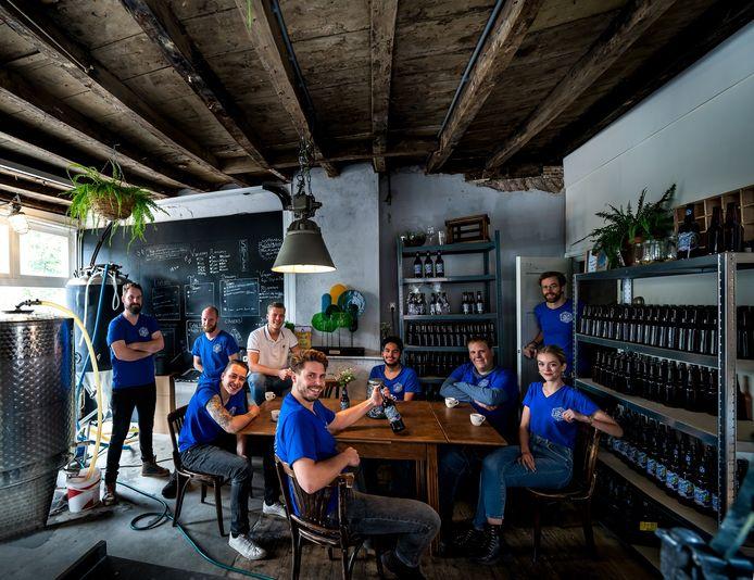 Team van bierbrouwerij Rabauw in Gemert. Binnenkort ook in Eindhoven.