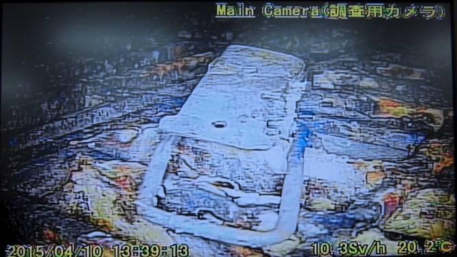 Robot filmt binnenkant van vernielde reactor Fukushima