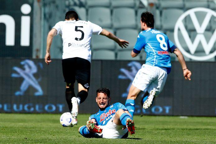 Dries Mertens a été victime d'une entorse à la cheville gauche lors du déplacement de Naples à La Spezia (1-4) samedi.