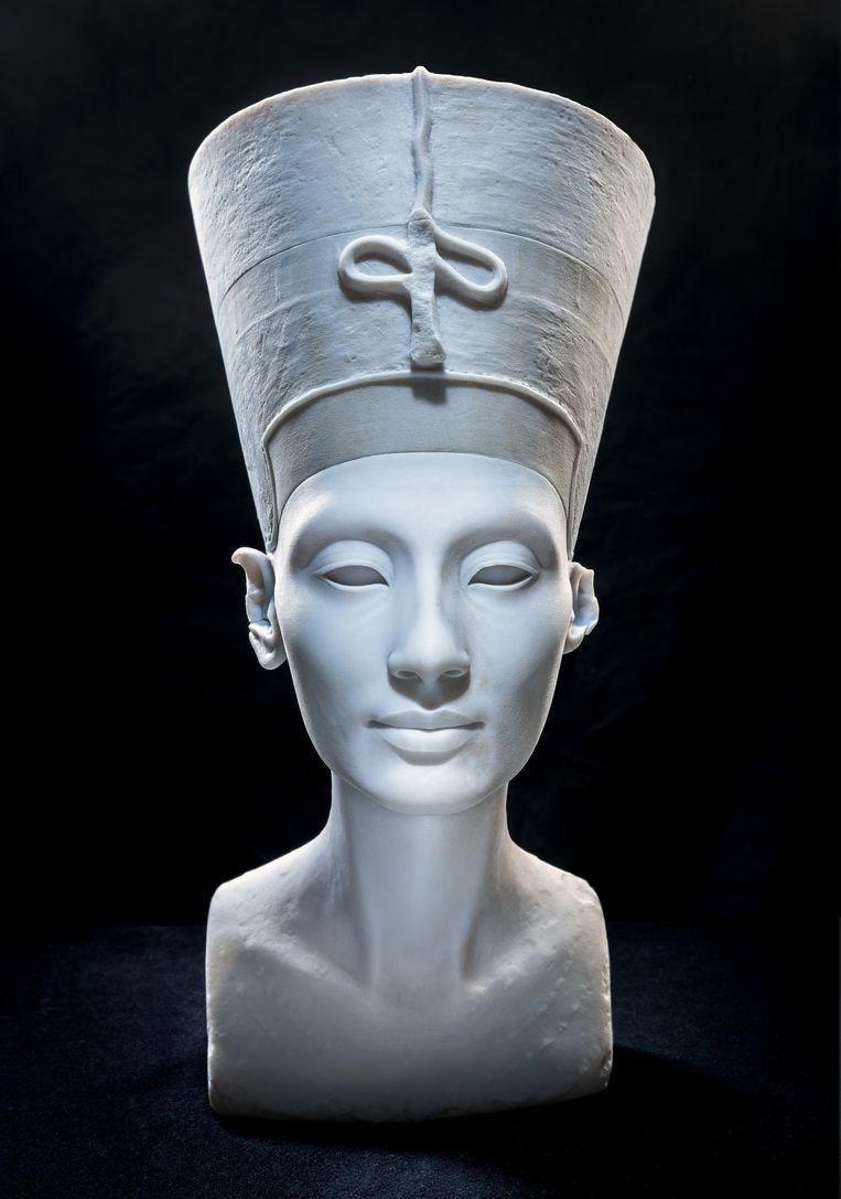 3D-print van Nefertiti Beeld Jan Nikolai Nelles/ Nora Al-Badri