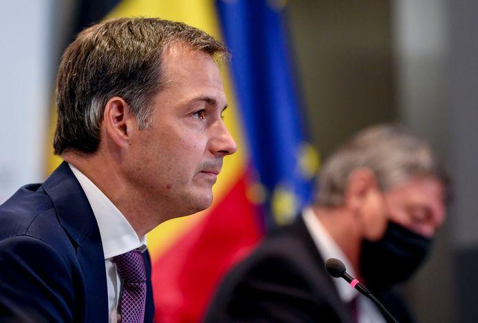 Alexander De Croo lors de la conférence de presse du Comité de concertation ce lundi 19 juillet.