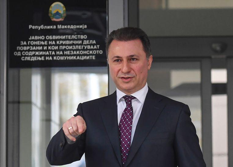 De Macedonische ex-premier Nikola Gruevski. Beeld EPA