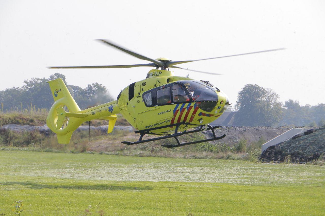 Traumahelikopter geland in Gelselaar
