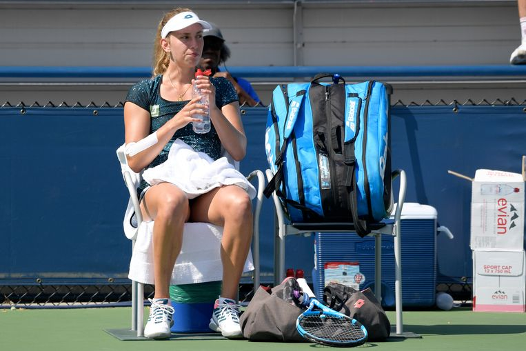 Belgian Elise Mertens pictured during a tennis match between Belarusian Vera Lapko (WTA 72) and Belgian Elise Mertens (WTA 15), in the second round of the women's singles at the 118th US Open Grand Slam tennis tournament, at Flushing Meadow, in New York City, USA, Wednesday 29 August 2018. BELGA PHOTO YORICK JANSENS Beeld BELGA