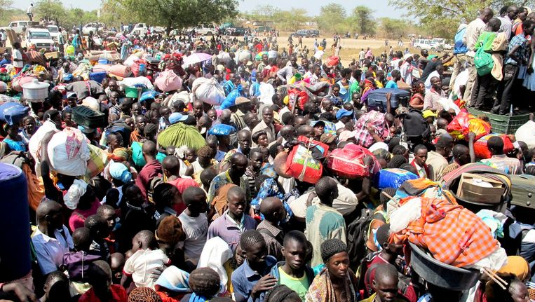 Vluchtelingen uit Zuid-Soedan. Beeld EPA