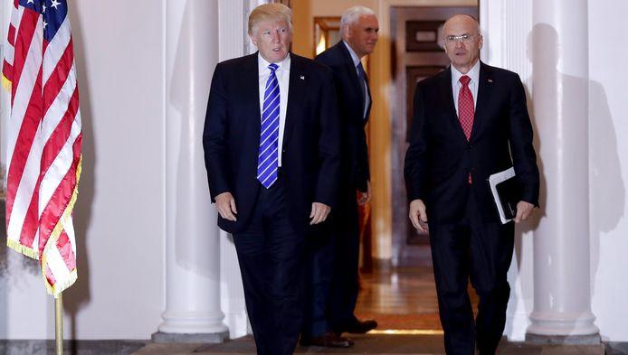 Donald Trump en Andy Puzder.