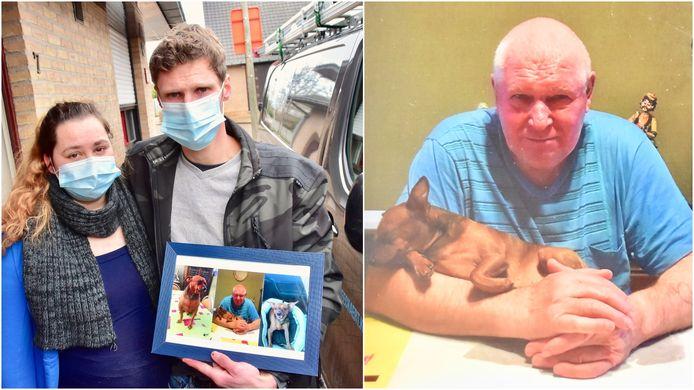 Kjell Beeckaert - hier met zijn vriendin Yenti - moet afscheid nemen van zijn vader Marcel, die verdronk toen hij zijn hondje Plukkie wilde redden uit de regenput.