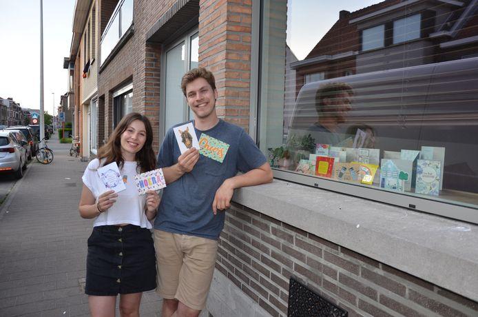 Antje en Ruben van Huis Gemaakt werden overspoeld met lieve welkomstkaartjes van Lokeraars.