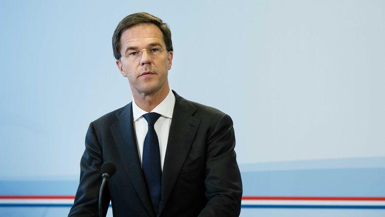 De oppositie in de Tweede Kamer vindt dat Rutte de leiding moet nemen bij het Energieakkoord. Beeld ANP