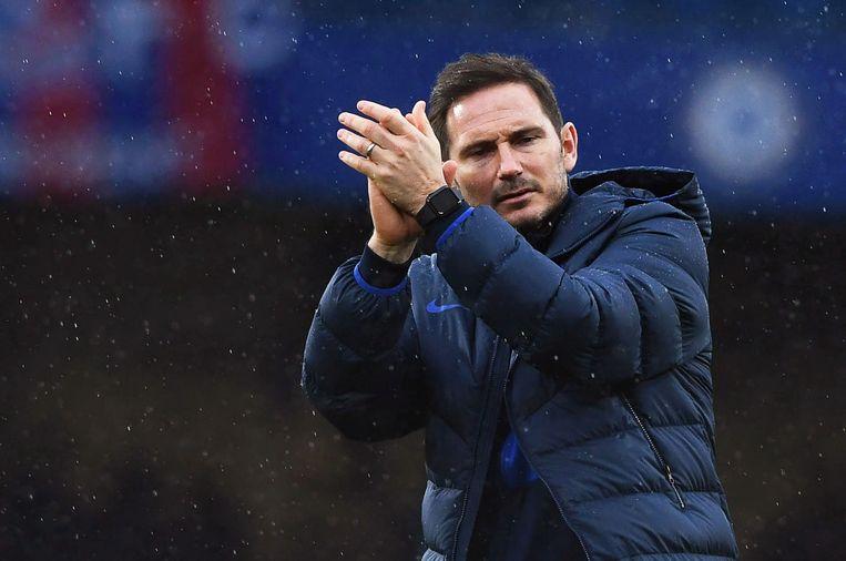 Frank Lampard als coach van Chelsea. Beeld EPA