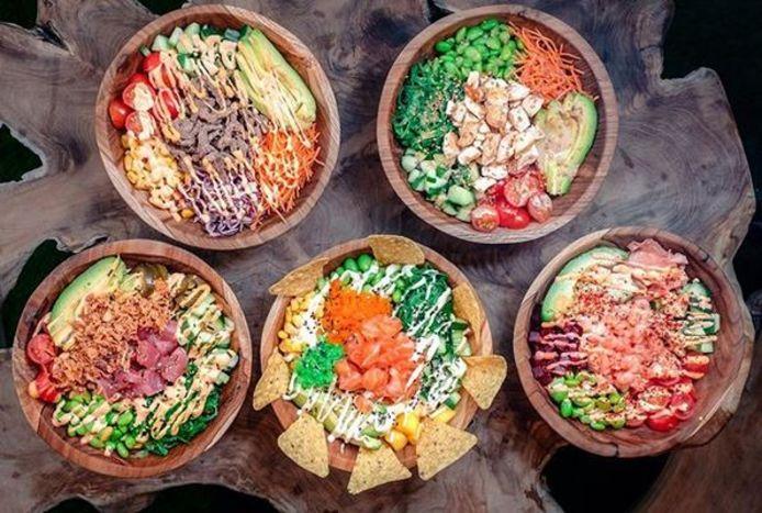 Een beeld van hoe de gerechten van Hawaiian Poké Bowl er zoal uitzien.