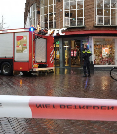 Brand bij filiaal KFC in Enschede