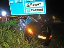 Automobiliste ramt op ooghoogte een verkeersbord bij De Wijk, maar stapt uit zonder schrammetje